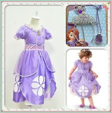 Princess Sofia Dress The First Childs Fancy Dresses Costume Party Dress+