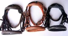 FANCY Stitch Brow Band English Bridle Reins PONY Black Tan or Brown SALE Cheap!