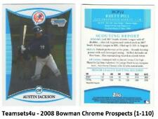 2008 Bowman Chrome Prospects (1-110) Baseball Set ** Pick your Team **