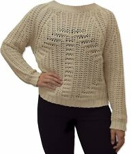 Womens Ladies Casual Cable Knit Jumper Open Knit Pullover Chunky Sweater -2783