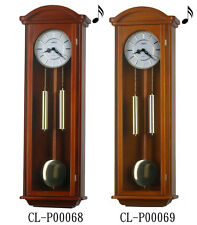 """40"""" Tall Deluxe Solid Wood Cherry Pendulum Clock Westminster 4*4 Chime"""