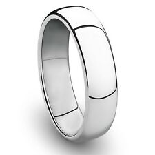 6MM Cobalt Chrome Ring Classic Wedding Band with Polished Finish
