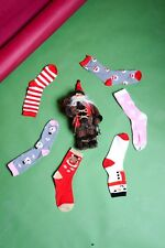 6 Pairs of Girls Christmas Ankle Socks With Colourful design Uk 4-6.5 & EU 37-40