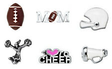 REAL ORIGAMI OWL CHARMS ~ FOOTBALL, MOM, HELMET, CHEERLDER, <3 CHEER, MEGAPHONE