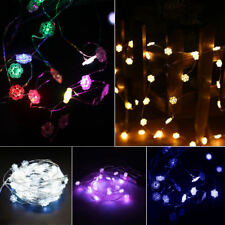 20/50LED String Battery Operated Copper Silver Wire Fairy Lights Christmas Party