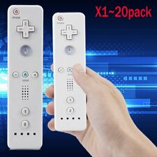 Lot 2 Wireless Remote Controller+Wrist for Nintendo Wii Game White USA J0