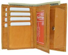 Marshal Big Leather European Style Wallet W/Change Pocket-8+ Cards,3 ID's #618CF