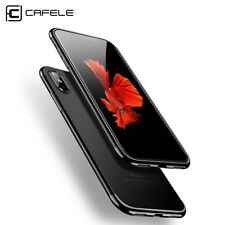 CAFELE Transparent Case for iPhone X & Premium Tempered Glass BUNDLE