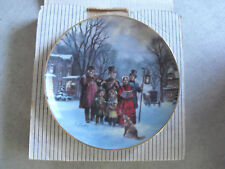 Lloyd Garrison Scenes of Christmas Past The Carollers Collector Plate MIB