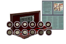 Roman Empire Collection : Box of 12 Silver Coin Set from Imperial Rome