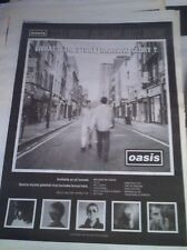 OASIS - WHATS THE STORY MORNING GLORY - original magazine advert / small poster