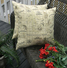 2 Pack ~ Tommy Bahama Home Fabric Natural Decorative Indoor Outdoor Throw Pillow