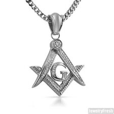 Stainless Steel Iced Out Masonic Freemason Iced Out Pendant