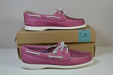 NIB SPERRY TOP SIDER A/O VILLA PERFORATED LEATHER PINK BOAT SHOES FLATS SZ 5