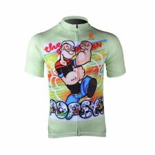 POPEYE Green Cycling Jersey Shirt Retro Bike Ropa Ciclismo MTB Maillot