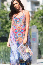 New CABO SAN LUCAS - Maxi Dress With Adjustable Shoulder Straps The Swank Store