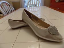 Stevies by Steve Madden Girls Shimmery Silver Metallic Heart Ballet Flats - NEW