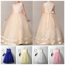 2017 Flower Girl Princess Pageant Wedding Party Formal Birthday Tulle Tutu Dress