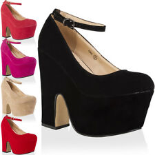 NEW WOMENS FAUX SUEDE LADIES CUT OUT WEDGE HEEL PLATFORM COURT SHOES SIZE 3-8