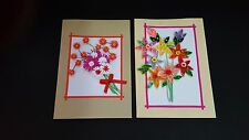 Handmade Paper Quilling Greeting Cards-Flowers Birthday,Congraz and best wishers