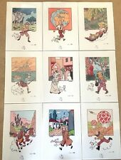 Lot of 9 A4 Tintin Prints - 75th Anniversary scenes Reproduction posters Herge