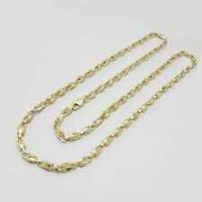 "3MM-6MM Womens 10K Yellow Gold Turkish Style Link Chain Necklace 18"" - 28"""