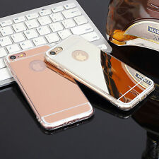 For iPhone 5 6/6s/7 plus Shockproof Mirror Luxury TPU Soft back Case Cover Skin