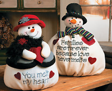 Christmas Plush Mr & Mrs Softy the Snowman Set Plush Mrs. Softy Melt My Heart