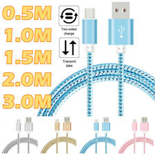 0.5/1/1.5/2/3M Strong Braided Heavy USB Type-C Data Fast Charger Charging Cable