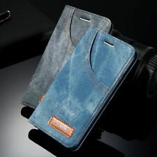 iPhone 7 Case with Retro Denim Cloth Wallet