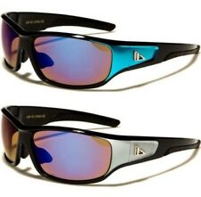 NEW MENS LADIES SUNGLASSES ARCTIC BLUE DESIGNER SPORTS WRAP GOLF CYCLING RUNNING