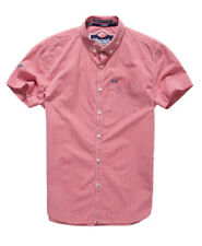 New Mens Superdry London Button Down Shirt Hartwell Red Gingham