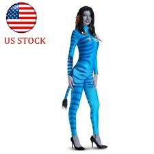 US Avatar Movie  Neytiri Adult Fancy Dress Halloween Costume Leotard Jumpsuit