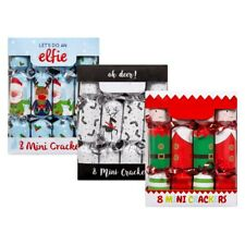 Keriaz® Mini Christmas Crackers - Design Pack of 8