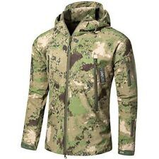 Mens Camo Hunting Jacket Large Hooded Pockets Coat Outdoor Hiking Camouflage New