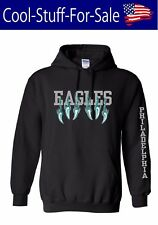 Philadelphia Eagles Claw Scratch Football Pullover Hooded Sweatshirt