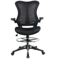 Adjustable Drafting Reception Office Ergonomic Stool-Chair with Armrests