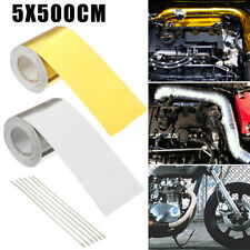 5x500cm High Heat Insulation Aluminium Foil Wrap Exhaust Header Pipe Tape Cloth