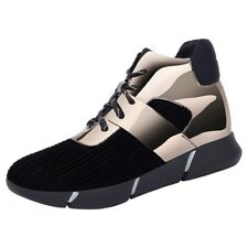 Girls Womens Patent  PU  Leather Wedge Creeper Sneaker Shoes Lace Trainers