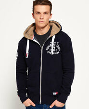 New Mens Superdry Trackster Winter Zip Hoodie Truest Navy