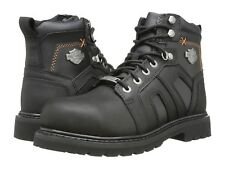 NEW Mens HARLEY-DAVIDSON Black Leather CHAD Steel Toe Motorcycle Boots Shoes