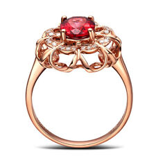Jewelry Women 18K Gold Plated Filled Rose Gold Crystal  Engagement Ring Wedding