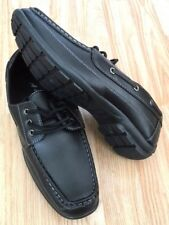 Men Black Loafer Lace Deck Moccasin Drive Boat Classic Shoes Smart Casual Size