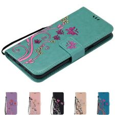 Butterfly Flower Leather Wallet Flip Card Holder Cover Case For Samsung Galaxy
