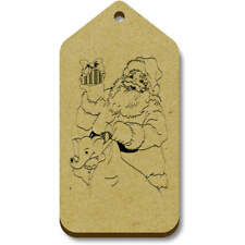 'Santa With Toys' Gift / Luggage Tags (Pack of 10) (vTG0015117)