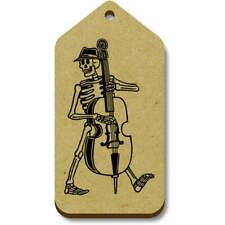 'Skeleton With Double Bass' Gift / Luggage Tags (Pack of 10) (vTG0001193)
