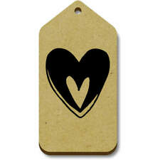 'Heart In Heart' Gift / Luggage Tags (Pack of 10) (vTG0018125)