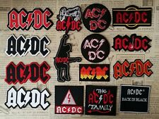 AC/DC Rock Band Iron On Embroidered Patch Applique DIY Denim Bag Jacket Vest Cap
