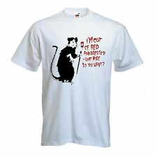 BANKSY I'M OUT OF BED AND DRESSED RAT T-SHIRT - Choice Of Colours - S to XXXL
