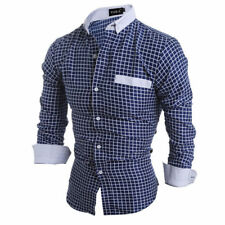 New Men's Luxury Slim Fit Long Sleeve Formal Dress Shirt Casual Shirts Tops w55